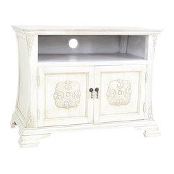 Wayborn - Wayborn Medallion TV Cabinet in Whitewash - Wayborn - TV Stands - 5609W -