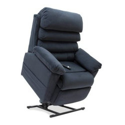 Mega Motion Trenton 3 Position Power Lift Recliner - Pillow-top armrests and a cascading, overstuffed back make the Mega Motion Trenton 3 Position Power Lift Recliner the best seat in the house. A sturdy hardwood and steel frame is stuffed to the brim with padding and covered in a plush, high-quality polyester fabric upholstery. The three seating positions are achieved easily by using the included push-button control. Go ahead - get comfortable! Chair measures 20W x 20D x 43H inches.About Mega Motion, Inc. Since 2007, Mega Motion, Inc. has quickly become an emerging leader in modern medical supplies for the elderly and differently-abled. With a focus on improving the quality of life for those with disabilities and limitations, Mega Motion combines the highest quality materials with technical expertise and emerging trends within their field. A rising star, Mega Motion, Inc. is a name you'll be hearing for years to come.