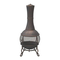 Garden Odyssey Cast Iron Antique Bronze Chiminea - An outdoor fire is the perfect way to get warm on a late September night and a fun way to roast some s'mores!