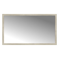 "Posters 2 Prints, LLC - 72"" x 41"" Libretto Antique Silver Custom Framed Mirror - 72"" x 41"" Custom Framed Mirror made by Posters 2 Prints. Standard glass with unrivaled selection of crafted mirror frames.  Protected with category II safety backing to keep glass fragments together should the mirror be accidentally broken.  Safe arrival guaranteed.  Made in the United States of America"