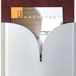 Carmen 1 Pocket Magazine Rack by Peter Pepper - Liven up your guest area or office space with these aesthetically pleasing Carmen 1 Pocket Magazine Rack & Wall File Chart Holder. The gentle pocket curves are sure to soften any room and grab the attention of those in it.