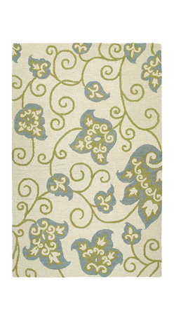 """Kaleen - Kaleen Carriage Collection 6106-01 5' x 7'9"""" Ivory - Carriage is a warm and casual rug as comfort and as much a part of the family as that favorite sweater.  As all Kaleen products Carriage is only made of the finest materials.  Hand Tufted Loop construction made in India of 100% Premium Virgin Wool."""
