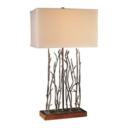 Ambience - Ambience Table Lamp 12323 - A bundle of beautiful branches! This table lamp brings the whimsy of the outdoors into your home with sculptural branches reaching up from the base. It's perfect for a contemporary home that wants to stay close to earth.
