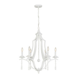 """Crystorama - Parson Chandelier - Transitional chandelier with finish and accents. Takes 6 - 60 w/c bulbs. Chain: 72"""" Wire: 120"""""""