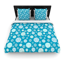 "Kess InHouse - Julie Hamilton ""Snowflake Sky"" Blue Cotton Duvet Cover (Twin, 68"" x 88"") - Rest in comfort among this artistically inclined cotton blend duvet cover. This duvet cover is as light as a feather! You will be sure to be the envy of all of your guests with this aesthetically pleasing duvet. We highly recommend washing this as many times as you like as this material will not fade or lose comfort. Cotton blended, this duvet cover is not only beautiful and artistic but can be used year round with a duvet insert! Add our cotton shams to make your bed complete and looking stylish and artistic!"