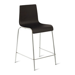 "Blu Dot - ""Blu Dot Counterstool Counterstool, Black"" - ""Because counters should never have to play second fiddle to tables, we offer the Chair Chair in counter height as well. Choose from black and chocolate leather alternative. Enjoy. Enjoy. """
