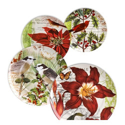 Waechtersbach - Waechtersbach 'Assorted' Accents Tradition Plates (Set of 4) - Decorate your table with this set of elegant Traditions Accent Plates. Made of high-quality porcelain,these detailed plates are perfect dinner parties,family gatherings,and holiday meals.