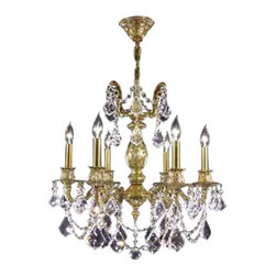 James R Moder - Old World Cast Brass Collection - IMPERIALT Golden Teak - In most designs, the major cost of a Crystal Chandelier is the price of the Crystal components. The quantity and shapes of the Crystal utilized to trim the Chandelier and most importantly, as in grades of diamonds, the crystal quality determines the price. James R Moderr Crystal offers IMPERIALT Crystal trim (-22), which blends a quality look with a great price point. These Crystal Chandeliers are trimmed with a combination of some of the high quality Crystal from: Austria, Czech Republic, Egypt, REGALT Hand-Cut and Polished and Crystal from other sources. Also available IMPERIALT Color Crystal. Crystal Shape: No Rock Crysta Bulb Count:6. Bulbs Not Included