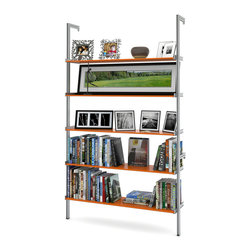 "ISS Designs - PAL50 50"" Pole Mounted Aluminum Shelving, Orange - 50"" Wide Pole Mounted Aluminum Shelving"