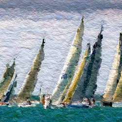 Heather Offord - Nautical Sailboat Race Wall Art - Before we get into the details I just wanted to say thank you so much for stopping to look at my art!