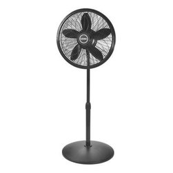 "Lasko Products - Cyclone Pedestal Fan 18"" Black - 18"" Performance Pedestal Fan with black finish.  Performance grill for high powered air delivery.  Three quiet. energy-efficient speeds.  Oscillation and adjustable tilt-back to direct air where needed.  Fully adjustable height (37"" to 53"") for added versatility.  Easy-grip rotary control.  Simple assembly and cleaning.  Includes a patented. fused safety plug.  E.T.L. listed.  18"" L x 15-3/8"" W x 53-3/8"" H"