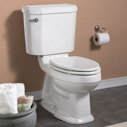 """American Standard Portsmouth Champion 4 RH EL Toilet - Meet the Champion® 4, the undisputed leader in high performance toilets. With the industry's widest 2 3/8"""" trapway and 4"""" flush valve, it virtually eliminated clogged toilets for homeowners and call backs for plumbers. The Champion 4 will move a mass 70% larger than the industry standard. It achieves the highest bulk removal rating of 1,000 grams and will even flush a bucket of golf balls! Which means you can flush with confidence!"""