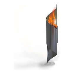 Decorpro - Nuvo Wall Mounted Bio Ethanol Indoor/Outdoor Fireburner - Nuvo wall mounted torch Fireburner / Firepot brings new light to the dEcor world. Can be used indoors and out. Caution should be taken on placement of wall torch. Always mount into the stud in the wall. Or use appropriate screws when mounting. Use Organica Bio Safety Fuel or the Sunjel one time use fuel canister to create the wonderful smoke free flame. This product includes a snuffer. Fuel sold separately.  This Fireburner / Firepot is made of steel and is painted in a durable epoxy powdered paint. Durable for any climate.