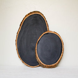 Small Barkboard Rustic Chalkboard by Olive Manna - These wood-slices-turned-chalkboards from Olive Manna are so beautiful and useful. I am dying to get one for myself! If giving them as a gift, include a note with ideas for where to hang it: as a menu board in dining room, for shopping lists in kitchen, by the front door for neighbors to leave notes or beside the bed for leaving love notes.