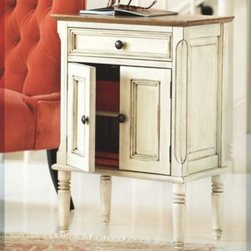 Whitney Cabinet - You can't afford to waste an inch in a small space. This nightstand not only provides a surface for a table lamp and a place to set your glasses, but also has plenty of storage underneath for books or anything else you might need by your bed.