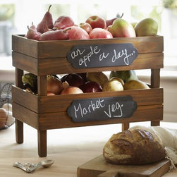 Stackable Fruit Crates - I love these stackable crates. They're a great way to get a farmers'-market feel in your own kitchen.