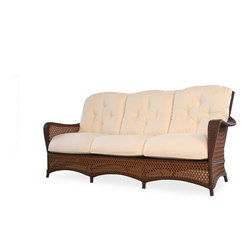 Lloyd Flanders Grand Traverse Sofa - Available in Caramel & Bisque Custom Vinyl. 38 H x 80.5 W x 35 D.
