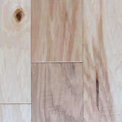 """Grand Yukon Hickory Natural - 1/2"""" x 6.5"""" x random lengths (16""""-72"""") - Micro-beveled ends and edges - Hand-scraped with character distressing, semi-gloss finish - Anti-scratch finish with Aluminum Oxide - 25 year finish and lifetime structural warranty - Installation options: above or on grade; glue, nail, or floating"""
