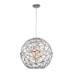 "Trans Globe Lighting - Trans Globe Lighting PND-968 Free Weld 20"" Modern / Contemporary Drop Pendant Li - Adjustable height - hang semi-flush or drop 72 inches. Hand welded design and frosted glass. Use with medium base or G25 - G45 bulbs. 1 light pendant."