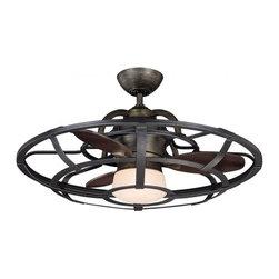 Joshua Marshal - One Light White Etch Glass Reclaimed Wood Ceiling Fan - One Light White Etch Glass Reclaimed Wood Ceiling Fan