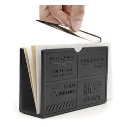 J-Me - Par Avion Letter Holder - Whether your mail comes in by ground or goes out by air, this lovely letter holder keeps all your correspondence in one hub. This way, your stack of letters stay neatly nestled, allowing you to make office organization a real priority.