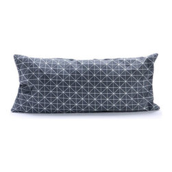 Small Origami Throw Pillow Cover in Gray - Here's a pillow that can launch a thousand cosmic sleeps. The cover's geometric pattern, texture, and unique three-dimensionality make it a unique surface on which to rest your head. The cover is conveniently machine washable and gives your bedroom or living room throw pillow mashup a 3D shakeup. Part of Mika Barr's 3-D textile collection, the fabric folds, fractures and turns in all three dimensions to make a new category of design.