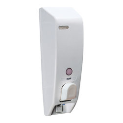 Better Living Classic 1 White Shower Dispenser - 71150 - The Classic Dispenser offers one of the most attractive, practical and convenient solutions to de-clutter your sink area. Great for the bathroom, kitchen or even by the laundry room sink!