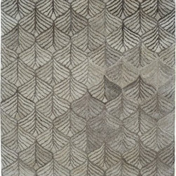 Dynamic Rugs - Dynamic Rugs Posh 7812-719 (Grey) 8' x 11' Rug - This Hand Made rug would make a great addition to any room in the house. The plush feel and durability of this rug will make it a must for your home. Free Shipping - Quick Delivery - Satisfaction Guaranteed