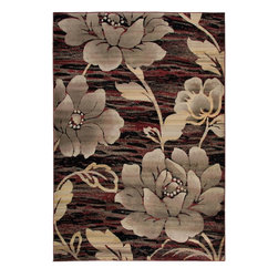 """Rizzy Rugs - Country & Floral Bayside 9'2""""x12'6"""" Rectangle Red Area Rug - The Bayside area rug Collection offers an affordable assortment of Country & Floral stylings. Bayside features a blend of natural Black color. Machine Made of 100% Heat-Set Polypropylene the Bayside Collection is an intriguing compliment to any decor."""