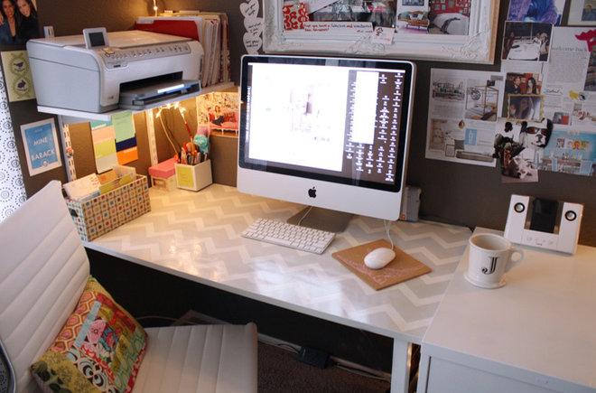 Eclectic Home Office Jen's Office studio
