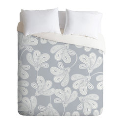 DENY Designs - Khristian A Howell Provencal Gray 1 Duvet Cover - Turn your basic, boring down comforter into the super stylish focal point of your bedroom. Our Luxe Duvet is made from a heavy-weight luxurious woven polyester with a 50% cotton/50% polyester cream bottom. It also includes a hidden zipper with interior corner ties to secure your comforter. It's comfy, fade-resistant, and custom printed for each and every customer.
