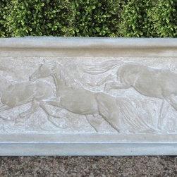 Outdoor Decor - Horses in relief garden planter