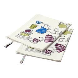 S Edholm/L Ullenius - GLÄNTA Dish towel - Dish towel, patterned, white
