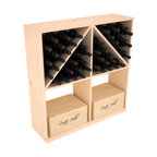 Wine Racks America - Solid Case/Bottle Storage Bin in Pine, (Unstained) - Store cases and bottles together in our versatile and durable option from the bottle bin storage family. Easy assembly and bottle loading makes this rack perfect for any collector. Made from high quality solid pine or redwood, this wine bin is built to last. That is guaranteed.