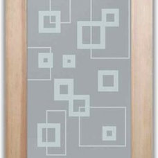 Contemporary Interior Doors by Sans Soucie Art Glass