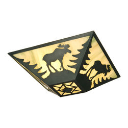 Steel Partners Inc - Drop Ceiling Mount - MOOSE - Every piece we create is unique — handcrafted at our factory in Chehalis, Washington, USA. Due to this, lead times are 2 to 4 weeks.