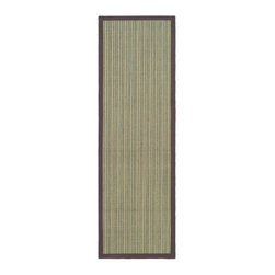 Safavieh - Natural Fiber Power Loomed Sisal Rug in Blue and Purple (12 ft. x 2 ft. 6 in.) - Size: 12 ft. x 2 ft. 6 in. Traditional style. Soft and durable. Made from sisal. Made in India. This densely woven rug will add a warm accent and feel to any home. The natural latex backing adds durability and helps hold the rug in place. Care Instructions: Vacuum regularly. Brushless attachment is recommended. Avoid direct and continuous exposure to sunlight. Do not pull loose ends; clip them with scissors to remove. Remove spills immediately; blot with clean cloth by pressing firmly around the spill to absorb as much as possible. For hard-to-remove stains professional rug cleaning is recommended.