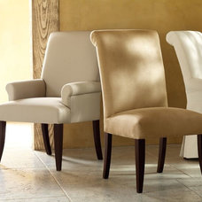 traditional dining chairs and benches by Pottery Barn