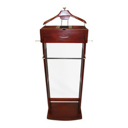 Proman - Proman Norstar Mahogany with Flip Mirror, Satin Nickel - Norstar mahogany with flip mirror. Combination of traditional elegant and modern stylish design. Flip mirror for quick dress up check. Center drawer with felt jewelry insert. Satin nickel hardware , Deluxe hanger support.