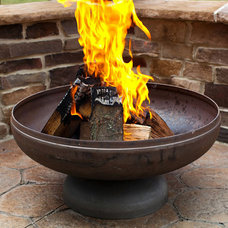 Traditional Fire Pits The Patriot Fire Pit with Natural Steel Finish