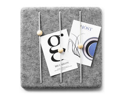 MENU - Felt Panel Letter Holder - Felt never looked so chic! This little panel is proof that you can actually organize your mail in a stylish matter. In a home office or entryway, this panel can serve many useful purposes.
