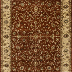 "Loloi Rugs - Loloi Rugs Yorkshire Collection - Rust / Lt. Gold, 7'-10"" x 11'-0"" - The Yorkshire Collection is a hand tufted area rug made by some of the finest craftsman. Semi-worsted New Zealand wool combines with deep rich color and semi-traditional designs to create unparalleled beauty."
