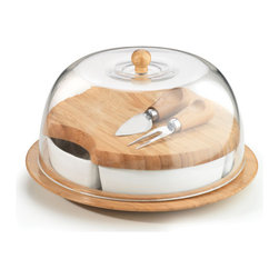 Anchor Hocking - Bamboo Entertaining Set 10 Pc. - Anchor Home Collections Bamboo 10-Piece Entertaining Set Contains: Chip & Dip, Cheese Set with Acrylic Dome, Gift Boxed.