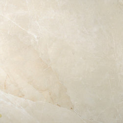 """Marazzi - Evolution Marble Gold Cream Matte 24"""" x 24"""" - The porcelain tile slabs in this collection reproduce two of the worlds finest marbles: Calacatta and Nero Marquinia. Evolution Marble is designed for commercial settings like shops, hotels, restaurants and museums. The white marble has lots of bold contrasting veining whereas the black marble is shot through with subtle white veining."""