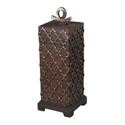 Sterling Industries - Tall Moorish Carved Box - Tall Moorish Carved Box