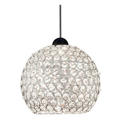 WAC Lighting - WAC Lighting MP-335 Low Voltage Roxy Monopoint Pendant - Canopy Included - Art Deco / Retro 1 Light Down Lighting Canopy Mount Pendant from the Roxy CollectionLike a blast from the past, this dazzling canopy mount fixture from the Roxy series fixtures will add retro styling and flair to your home. Reminiscent of a retro disco ball, this flashy fixture is formed with faceted crystal octagons in a delicate chrome framework.WAC lighting's collection of QUICK CONNECT fixtures includes hundreds of choices to suite your every need. QUICK CONNECT fixtures are available in a wide range of finishes and glass colors to accommodate many design concepts.Features: