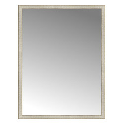 """Posters 2 Prints, LLC - 42"""" x 55"""" Libretto Antique Silver Custom Framed Mirror - 42"""" x 55"""" Custom Framed Mirror made by Posters 2 Prints. Standard glass with unrivaled selection of crafted mirror frames.  Protected with category II safety backing to keep glass fragments together should the mirror be accidentally broken.  Safe arrival guaranteed.  Made in the United States of America"""