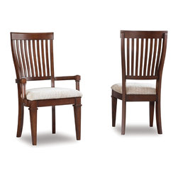 Hooker Furniture - Hooker Furniture Set of 2 Abbott Place Slat Back Side Chair 637-75-410 - Abbott Place takes a hip spin on traditional styling for a look that blends the best of classic American influences with fresh, updated design.