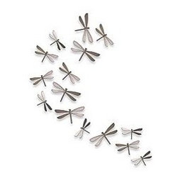 Silver Wall dragonflies - Mount to a wall for your own unique dragonfly wall sculpture.