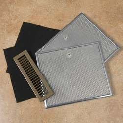 Ductless Conversion Kit for Range Hoods - Use this Ductless Conversion Kit when it is impossible or impractical to vent your range hood to the outside. This kit is made for specific Elite range hoods and includes a vent cover, charcoal filters and wire mesh filters.